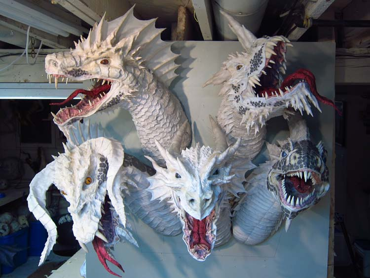 Paper Mache Tiamat - assembly complete