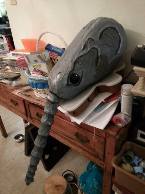 Allie Henson's paper mache Sandman mask