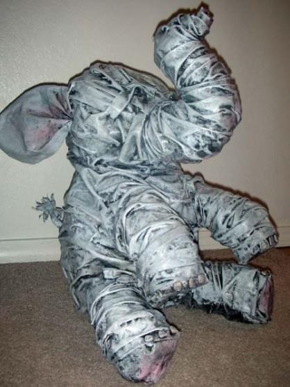 alyse paper mache elephant