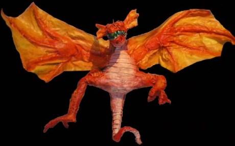 ana paper mache dragon