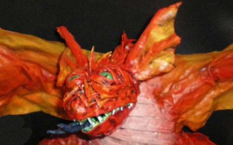 Anas paper mache dragon face