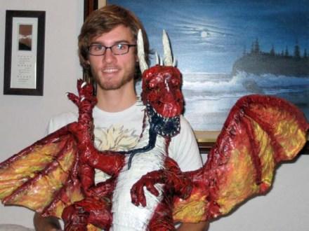 bens paper mache dragon