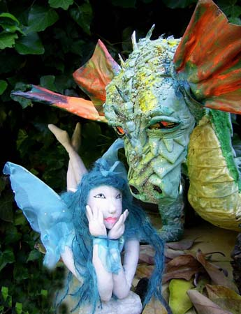 bernaditos paper mache dragon and fairy