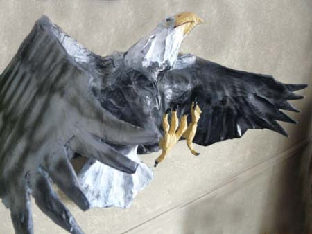Brookbends paper mache eagle