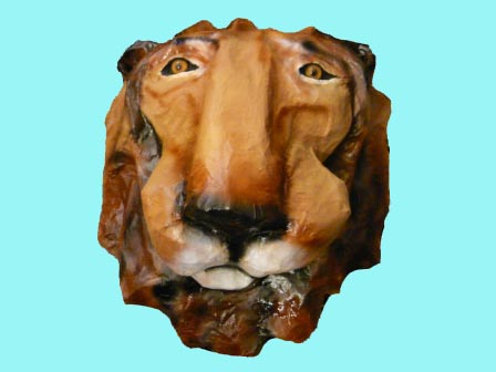 brookbends paper mache lion head