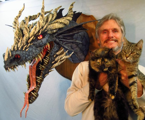 Dan and new dragon and new kittens