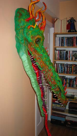 avid's paper mache Dragon Head