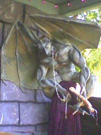 gary's paper mache gargoyle