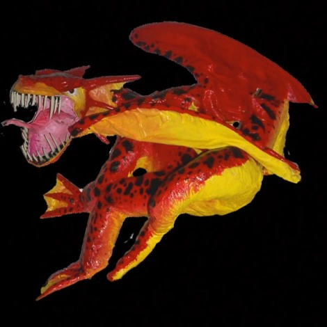 gerards paper mache dragon
