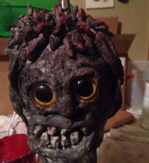 ginger's paper mache head
