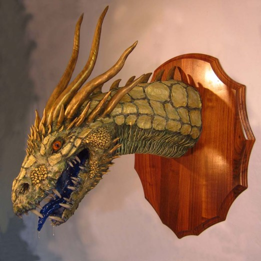 Paper Mache Gold Dragon -side2