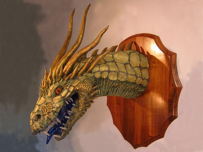 Gold paper mache trophy