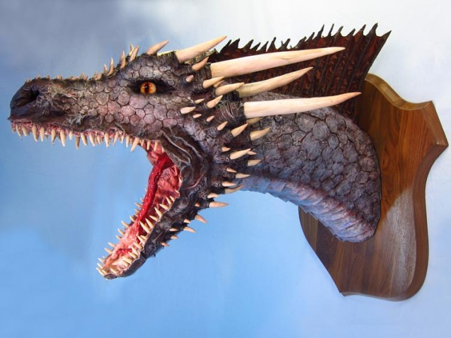 paper mache Drogon- young adult