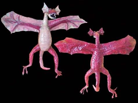 Hugues paper mache dragon