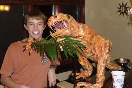 Jacks paper mache Heterodontosaurus
