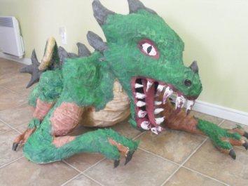jamies paper mache dragon