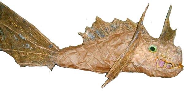 jean's paper mache goldfish