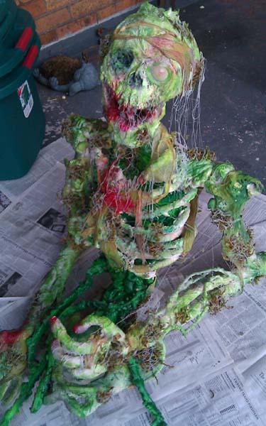 Jeremys paper mache zombie
