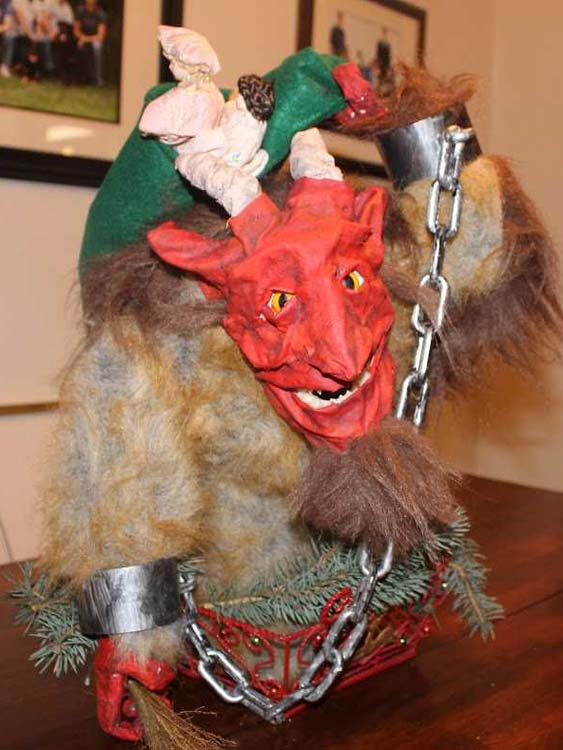 joe Heppler's paper mache Christmas Krampus