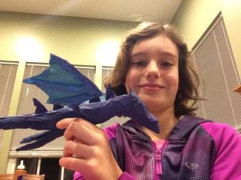 Kay's paper mache dragon