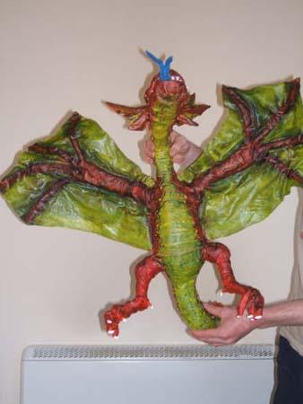 leslie paper mache dragon