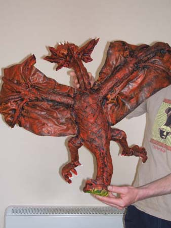 leslies paper mache dragon front