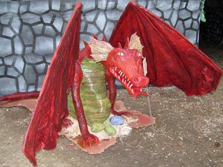 lori codys paper mache dragon
