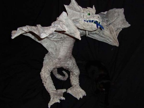 lucies paper mache dragon