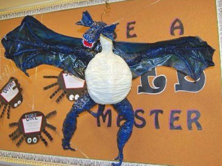 mary allens paper mache dragon