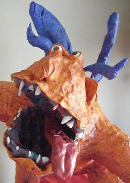 Matts paper mache Monster