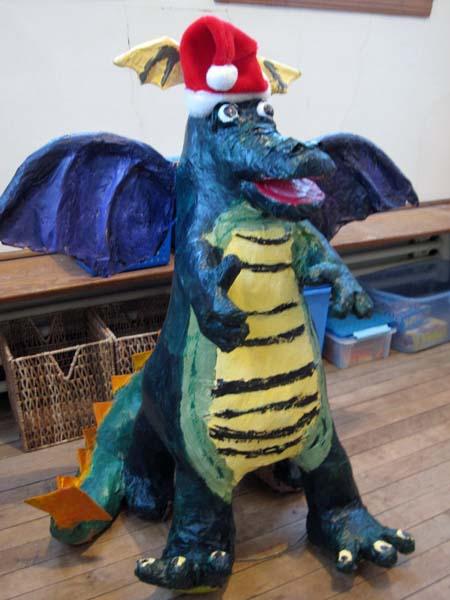 melissas kids paper mache dragon3