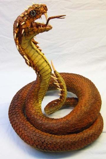 naga paper mache snake-side
