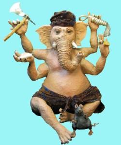 paper mache Ganesh