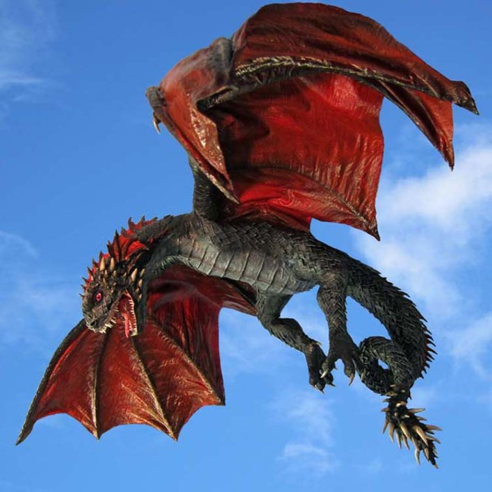 paper mache juvenile Drogon
