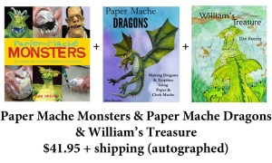 Paper Mache three book order
