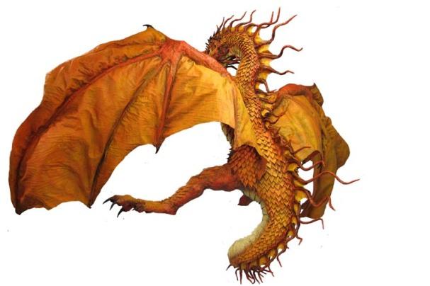 Pascal'w paper mache dragon