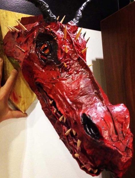 Per Roslund's paper mache dragon trophy1