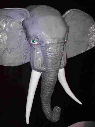 Rick,s paper mache Elephant