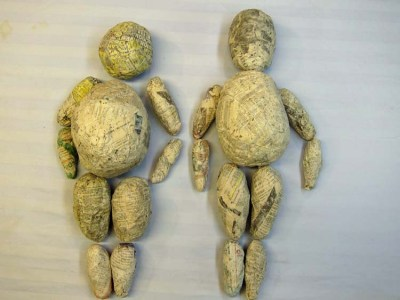 Rum and paper mache- human parts