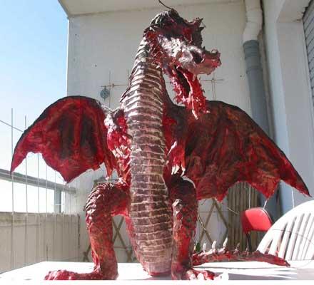 sabines paper mache dragon front