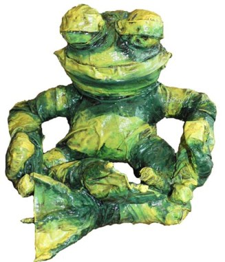 sandys paper mache frog