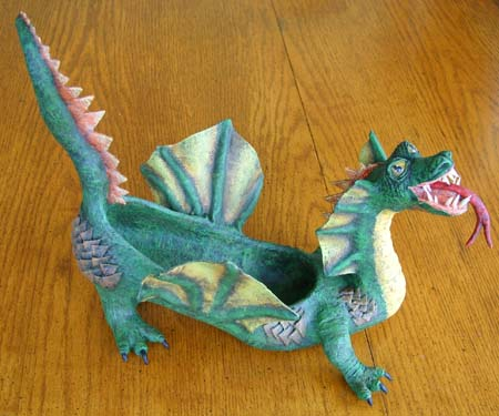 Suz's paper mache dragon