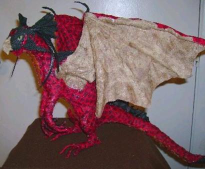 tims paper mache dragon