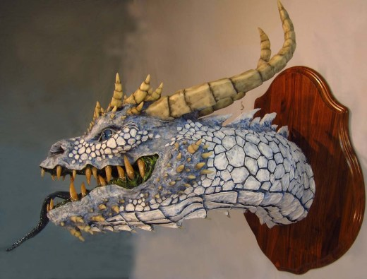 Paper mache White Dragon- side 2