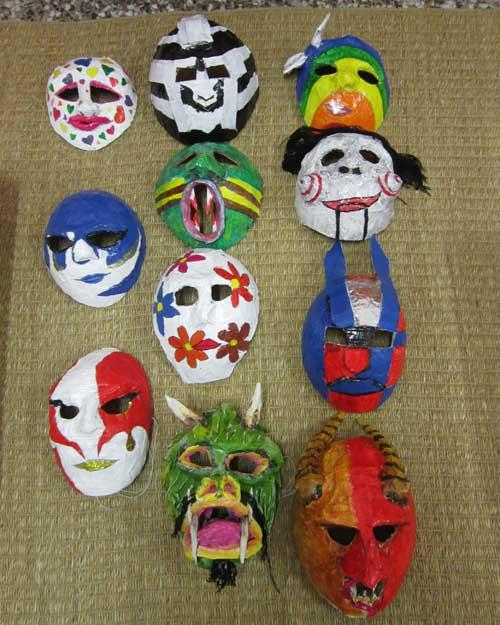 andrea de luca's paper mache masks (Fata Carabina Center)