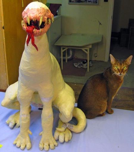 Eddie and paper mache Albino