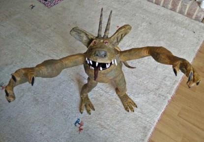 harold hughe's paper mache monster
