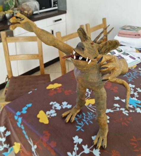 harold hughe's paper mache monster2