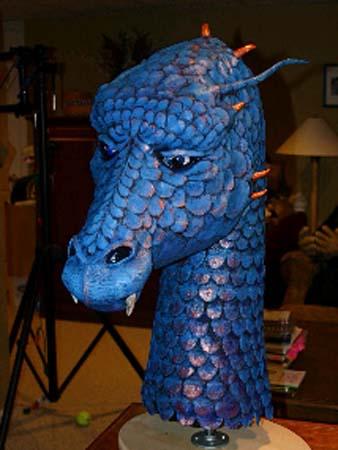 jeannines paper mache dragon