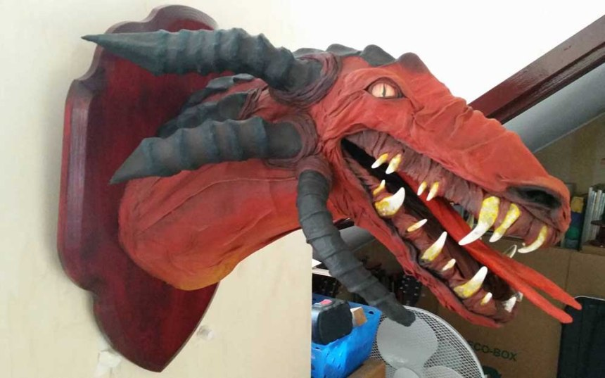 Lee's new paper mache dragon2